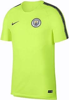 00c35636f26 Nike 2018-2019 Man City Squad Training Football Soccer T-Shirt Jersey (Volt