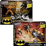 BATMAN 6055934 - Batman Batcycle-Spielset mit 10cm-Actionfiguren von Batman und Clayface, Design sortiert