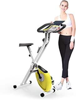 $107 » N/P Exercise Bikes Indoor Cycling Folding Magnetic Erection Bike Stationary Bike with Tablet Stand