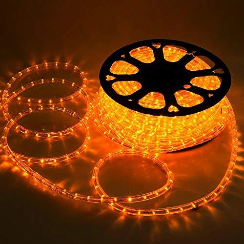 Hengda 10m LED Lichtschlauch, 240 LEDs Lichterschlauch, Lichterkette Wasserdicht, für Outdoor Balkon, Terrasse, Hochzeit, Party, Gelb Lichtschläuche
