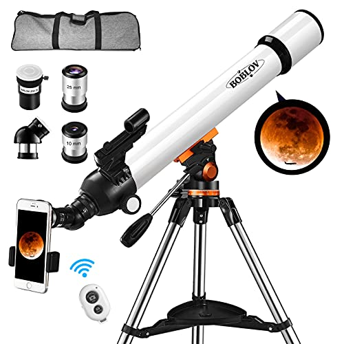 BOBLOV Astronomical Telescope,Telescope for Adults,Kids, 700x70mm Astronomical Refractor with...