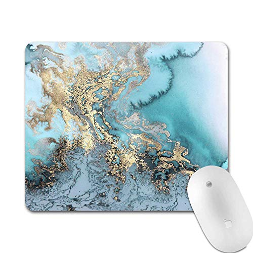 Mouse Pad Pink Blue Purple Gold Marble Gaming Mouse Pad Round Art Print Comfortable Rubber Base Mouse Pads for Computers Laptop (Marble 4)