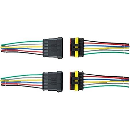 Qiorange 1pcs 1 6 Polig Kabel Steckverbinder Stecker Wasserdicht Schnellverbinder Kfz Lkw Auto 1pcs 6 Polig Auto