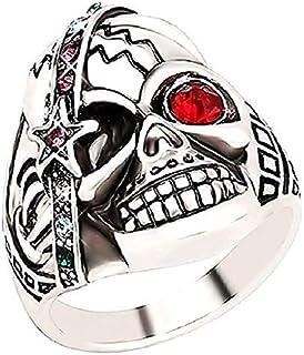 Anillo con joyería del cráneo y de la Estrella del Rhinestone Ideas de Regalos para Cada ocasión