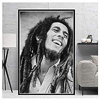 Ipea ボブマーリー歌手スターキャンバス壁アートポスター絵画写真寝室の装飾部屋の装飾リビングルームの装飾-20X28インチフレームなし