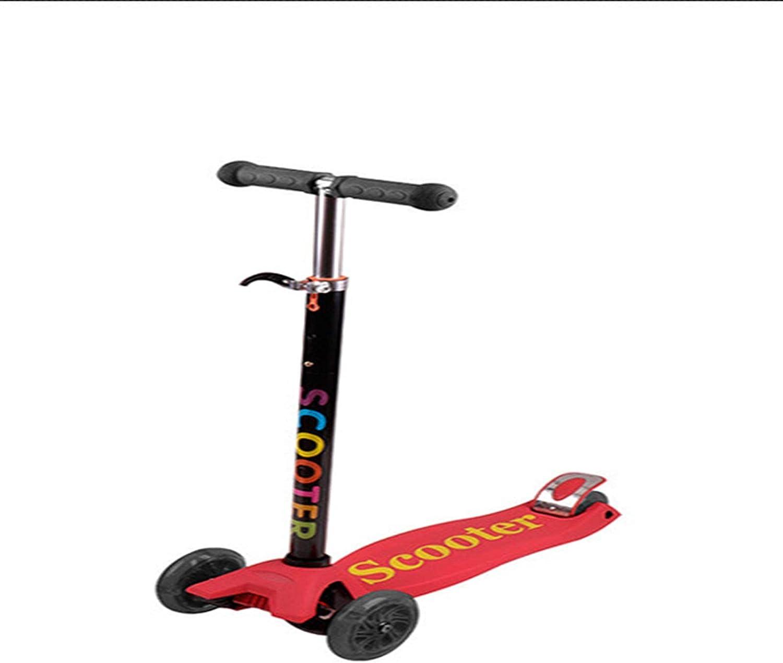 H&1 Patineta Junior Scooter para niños y niñas, Scooter de 3 Ruedas, Adecuado para niños de 3 a 8 años, Altura Ajustable, Ruedas iluminadas, asa Desmontable, direcci