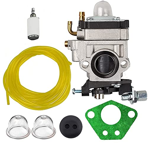 Savior A200774 Carburetor with Gasket Primer Blub Fuel Line Fuel Filter for 2 Cycle 43cc Powermate PCV43 Tiller Earthquake E43 E43WC E43CE Auger MC43 MC43CE MC43E MC43C MC43ECE MC43RCE Mini Cultivator