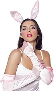 3 Piece Bunny Accessory Kit Includes Gloves With Ears And Tail, Pink, One Size
