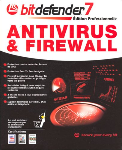 Bitdefender 7 Edition Professionnelle : Antivirus + Firewall