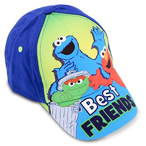 Sesame Street Toddler Boys Best Friends Cotton Baseball Cap, Age 2-4 Blue