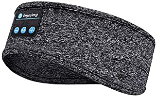 Casque de Sommeil, Sommeil Casque Musical Bluetooth 5.0 sans Fil avec Ultra-Fins HD Stéréo Haut-parleurs, Anti Bruit...