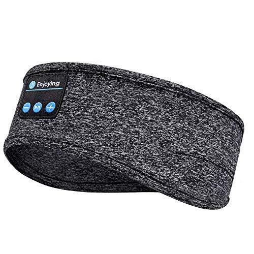 HEROPI Schlafkopfhörer Bluetooth-Stirnband, Upgrage Soft Sleeping Drahtlose Musik Sport Stirnbänder, Langzeitspiel Schlafkopfhörer mit eingebauten Lautsprechern für Training, Sport-13