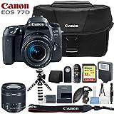 Canon EOS 77D Digital SLR Camera with 18-55mm Lens and Basic Kit (International Model)