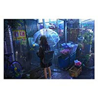 SUIGETUジグソーパズル 500ピース 1000ピース 木製パズル アニメ-少女とフラワーショップ 絵画 油絵 風景 写真 世界名作 壁飾り ストレス解消 グッズ 初心者向け 風景 キッズ 学習 大人ゲーム 木製 ギフト プレゼント