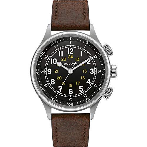 Bulova Herren Automatik Armbanduhr Classic Pilot 96A245