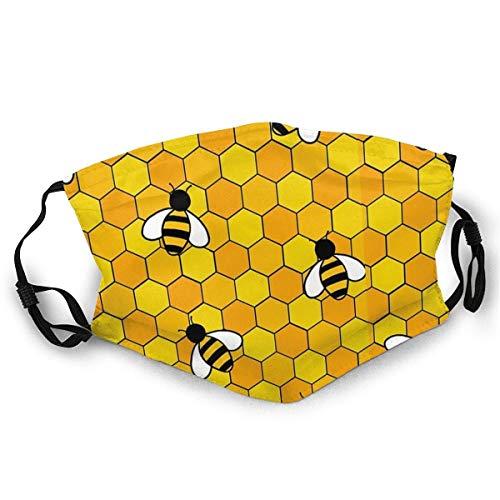 Bwwo-Bing, maschera confortevole per il viso, con api al miele, alla moda, a bandana, per pesca