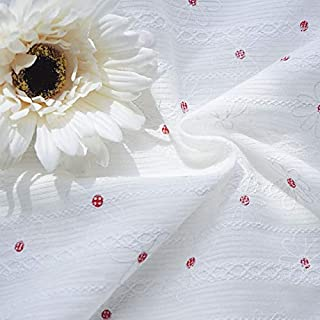 2m/lot Summer Cotton Fabric for Dress Shirt Foam Print Flower Floral Wholesale Tan Headliner Fabric