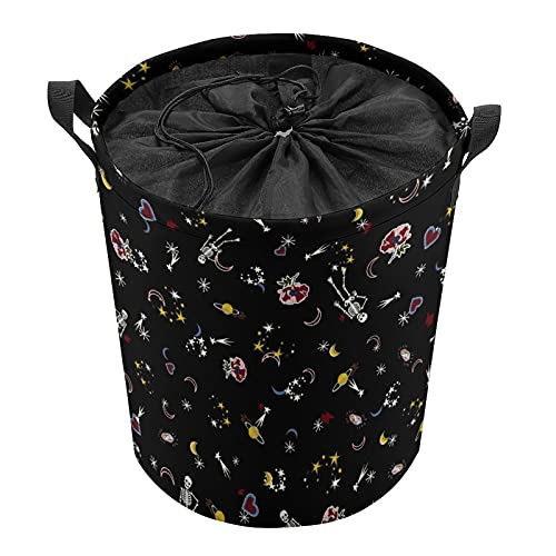 Cubo de almacenamiento impermeable grande organizador ligero cesta para la colada, cubos de juguete, cestas de regalo, ropa sucia, dormitorio de niños, planeta de baño