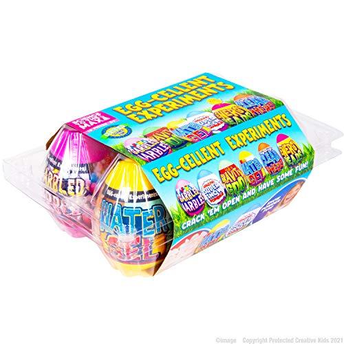 Science to The Max Egg-Cellent Experiment - 6 Pack Science Experiments for Children- Egg-Shaped Activity Kit for Boys and Girls - Easter Party Favor or Basket Stuffer - Sensory Craft for Kids 8+