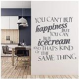 azutura Sie können EIS kaufen Wandtattoo Küche Zitate Wand Sticker Lustiges Cafe Dekor verfügbar in 5 Größen und 25 Farben Mittel Fuchsie Rosa