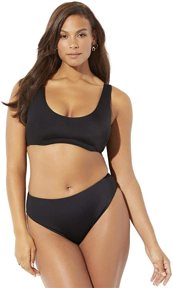 Swimsuits For All Women's Plus Size Executive Underwire Bikini Set