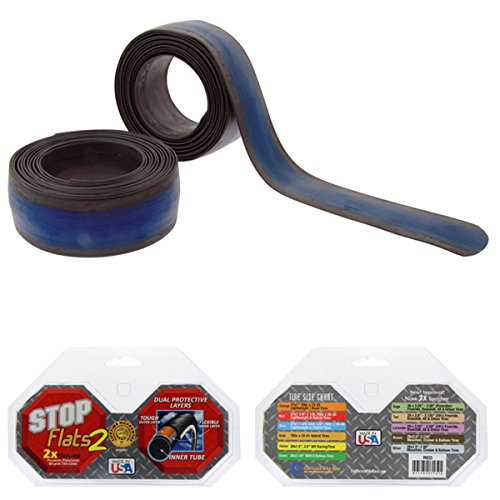 """StopFlats V2 27"""" X 1-3/8"""" 700 X 38/40C Blue Bicycle Tire Liners"""