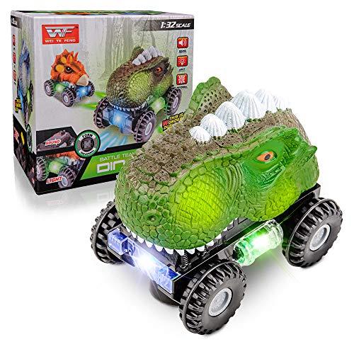 Spielzeugauto für Kinder Jungen Alter 2 3 4,Dinosaurier Autospielzeug für 2-5 Jahre Alte Jungen Mädchen Kinder Auto für Kinder im Alter von 3 4 5 Geburtstagsgeschenk für 3-8 Jahre Altes Kleinkind