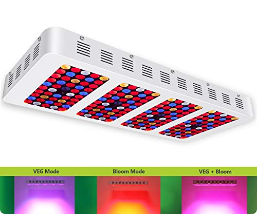 [Upgraded] iPlantop Newest 2000w LED Grow Light High Illumination(PAR),3 Chips LED Plant Grow Lamp Full Spectrum with Reflector and Double Switch for Professional Greenhouse Hydroponic Indoor Plants