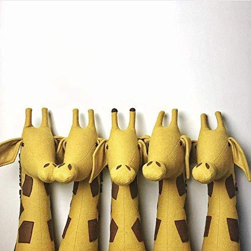 EDCV muur poppen voor kinderen kinderkamer muur dier gevulde knuffel olifant konijn hoofd Mount speelgoed slaapkamer decoratie vilt, een giraf