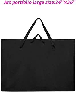 "Large Size Art Portfolio Tote with Nylon Shoulder, Poster Board Storage Bag, 24""X 36"" Student Art Work Portfolio Case"