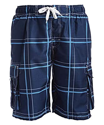 Kanu Surf Men's Echelon Swim Trunks (Regular & Extended Sizes), Flex Navy, 3X