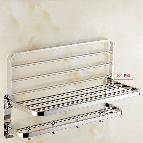 Toallero acero inoxidable 304 baño estante baño perchero plegable de metal toallero 60cm
