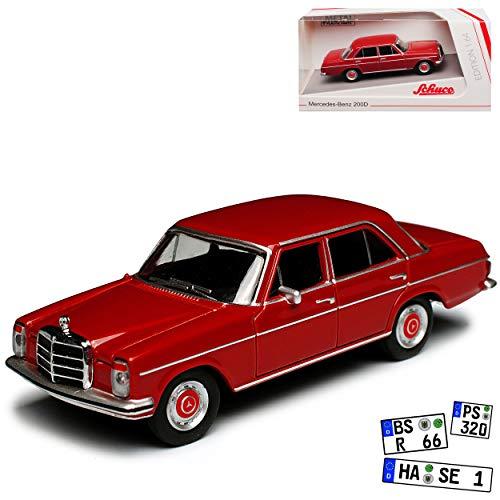Mercedes-Benz 200 /8 Strich Acht Limousine Dunkel Rot W114 W115 1967-1976 1/64 Schuco Modell Auto