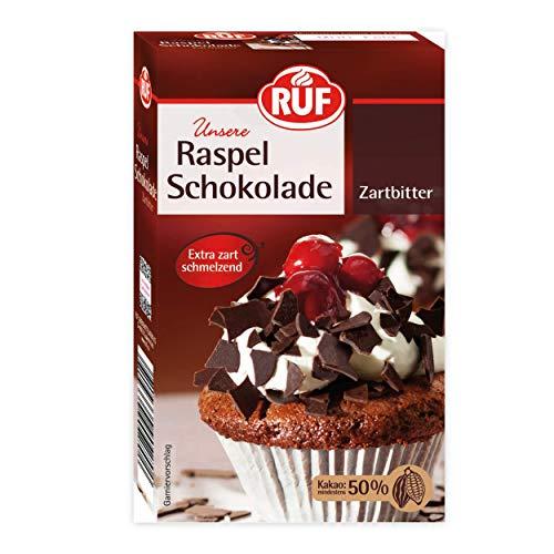 RUF Zartbitter Raspel-Schokolade hauchdünn extra zarter Schmelz, 11er Pack (11 x 100 g)