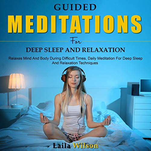 Couverture de Guided Meditations for Deep Sleep and Relaxation