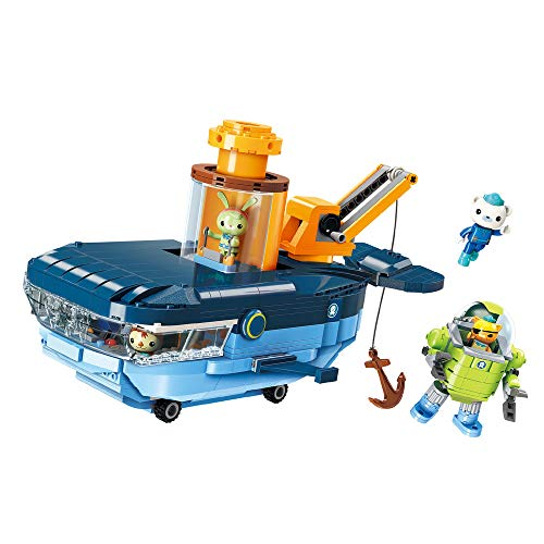 Enlighten Octonauts GUP-C Blue Whale Vehicle & Barnacles Kwazii Tweak 630pcs Building Block Set-Without Original Box