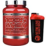 Scitec Nutrition 100% whey protein professional 920 gr Proteine del Siero del Latte gusto Cioccolato + Shaker Nutriline
