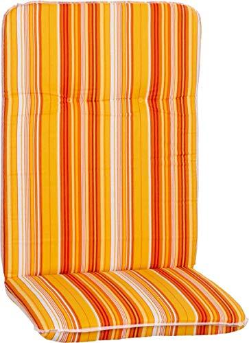Beo Gartenmöbel Auflage Streifen orange für Hochlehner Edremit M616