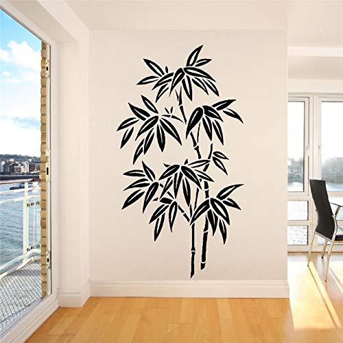 Naklejka ścienna w stylu chińskim naklejka winylowa farba bambusowa kaligrafia w stylu chińskim sypialnia salon dekoracja wnętrz 57x105cm