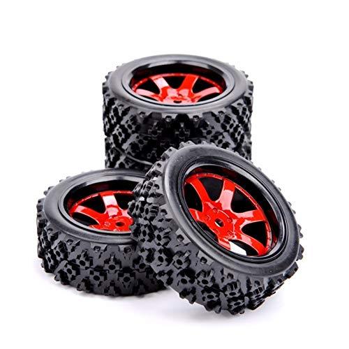 Modelo de neumático de coche Los neumáticos de goma 4pcs Rally y la llanta de la rueda con 6 mm de ajuste de compensación HSP HPI RC escala 1/10 de coches Juegos de construcción para niños manualidade