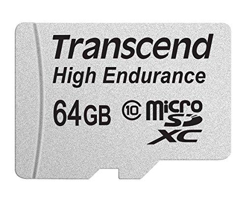 Transcend 64GB microSDXC Memoria Flash Clase 10 MLC - Tarjeta de Memoria (64 GB, MicroSDXC, Clase 10, MLC, 21 MB/s, Negro, Plata)