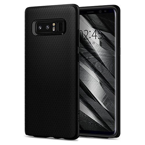 Spigen [Liquid Air Samsung Galaxy Note 8 Hülle (587CS22060) Stylisch Muster Design Handyhülle mit Luftpolster Air Cushion Technologie Schutzhülle Capsule Hülle (Schwarz)