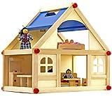 NICK and BEN Puppen-Haus aus Echt-Holz Klassische Mode-Puppen Etagen Ferien-Haus mit Möbeln und...