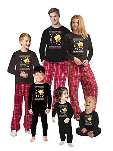 Christmas 2020 Pajamas for Family - Funny Matching Christmas PJs - Holiday Xmas Quarantine PJs Men PJ Set Deer 6 Feet Away L