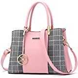 Women Purses and Handbags Top Handle Satchel Shoulder Bags Messenger Tote Bag For Ladies (p-Pink)