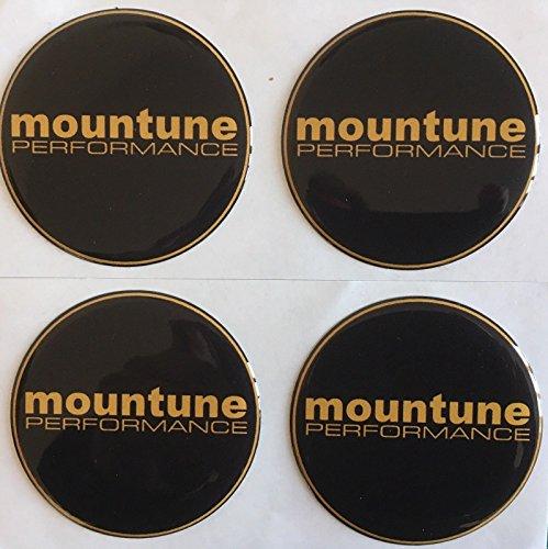 SCOOBY DESIGNS Mountain Performance Lot de 4 autocollants pour centre de roue en alliage 55 mm