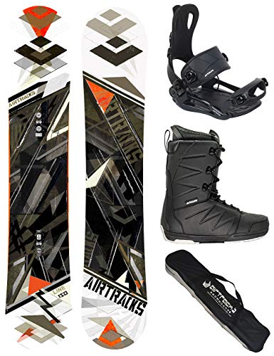 Airtracks Snowboard Set - Board LINE Wide 154 - Softbindung Master - Softboots Strong 44 - SB Bag