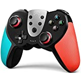 TERIOS Wireless Pro Controller Compatible with Switch,Switch Lite –Premium Joypad for Video Games – 3 Levels of Turbo Speed – NFC Technology–Adjustable Vibration Intensity (Blue & Red)