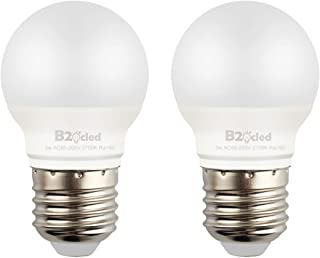 B2ocled 25 Watt Equivalent LED Light Bulb,3W A15 Lamp Warm White 2700K Non-Dimmable, E26/E27 Base, CRI90+, 240-Lumen, 2-Pack