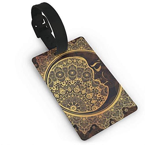 Equipaje Accesorios Accesorios de Viaje Etiquetas para Equipaje Glitter Golden Chevron Luggage Tags Travel ID Labels Tag for Baggage Suitcases